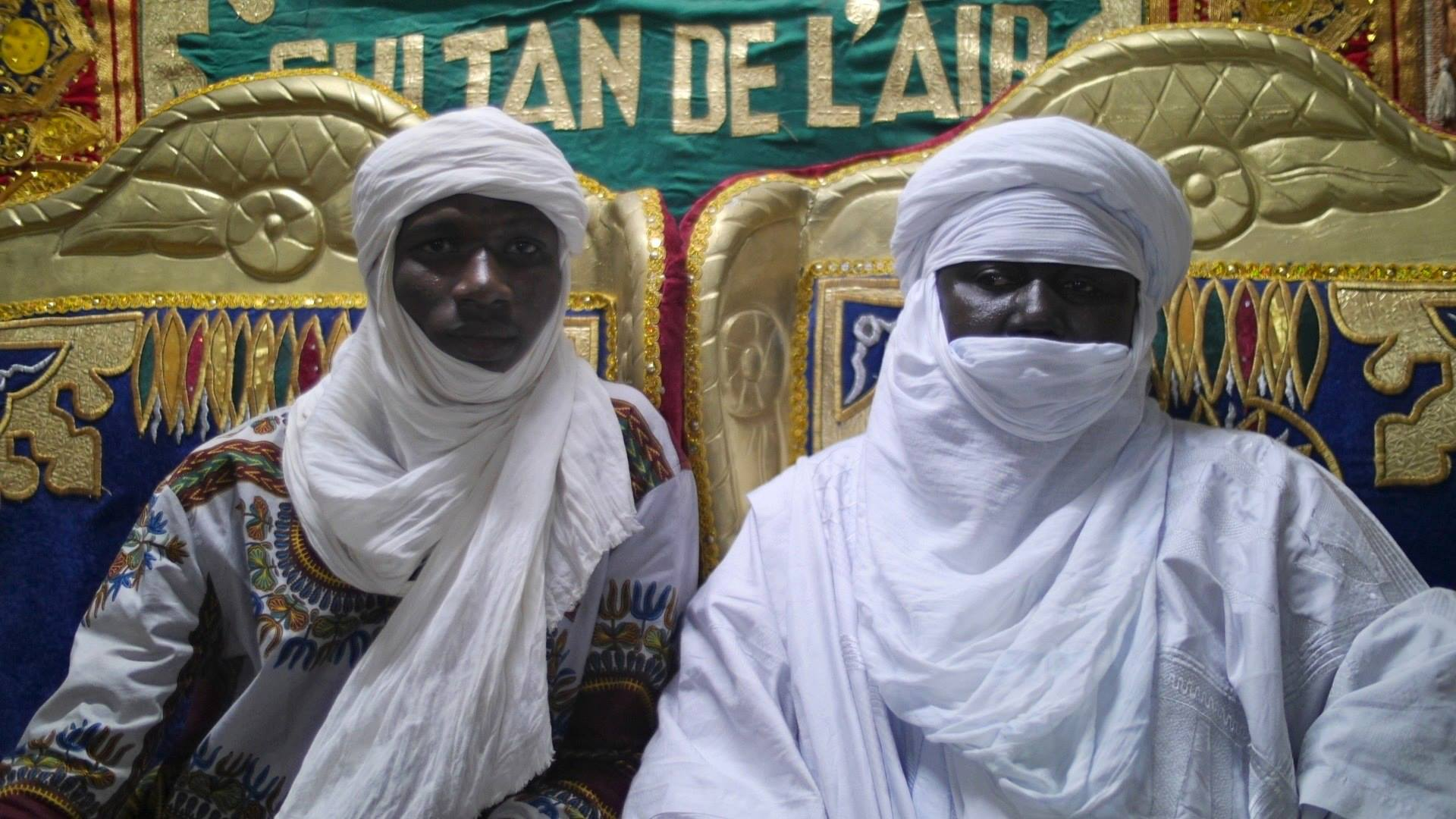 Youssouf Coulibaly, left, with the Sultan of Agadezz Niger, 2013