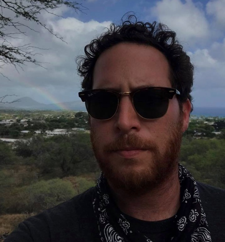 Sam Cohan, writer, on location in Hawaii for Vice